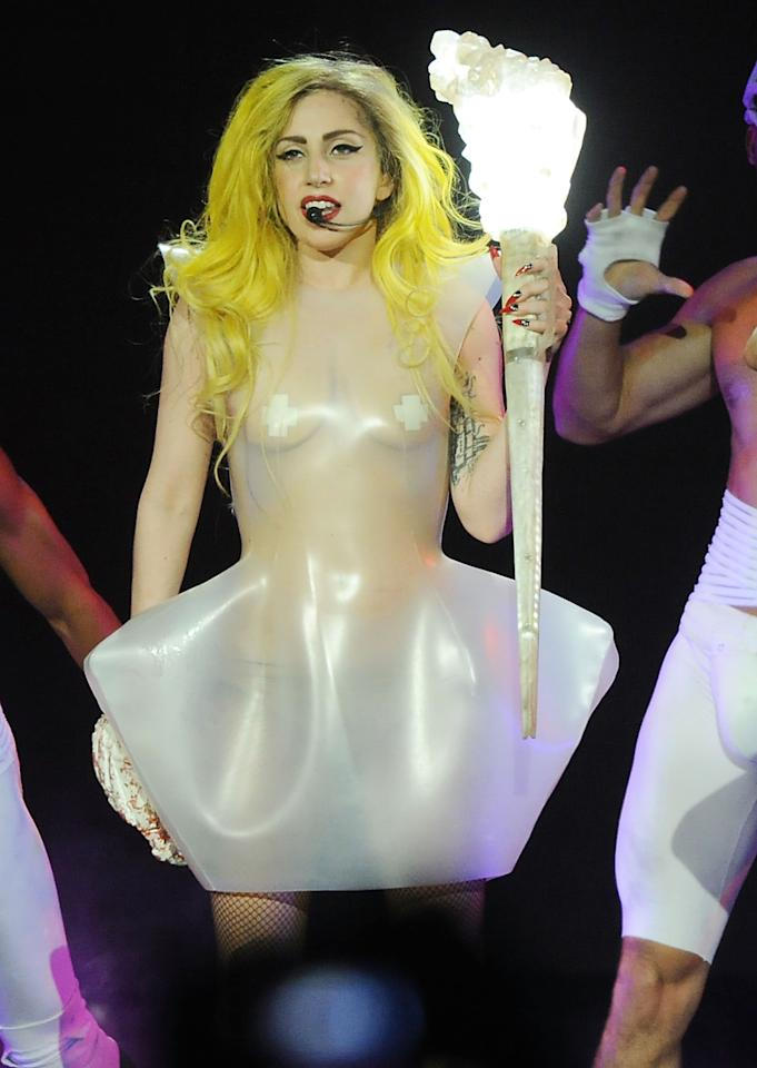 DULUTH, GA - APRIL 18:  (FOR EDITORIAL USE ONLY) Lady Gaga performs during The Monster Ball Tour at the Arena at Gwinnett Center on April 18, 2011 in Duluth, Georgia.  (Photo by Rick Diamond/Getty Images)