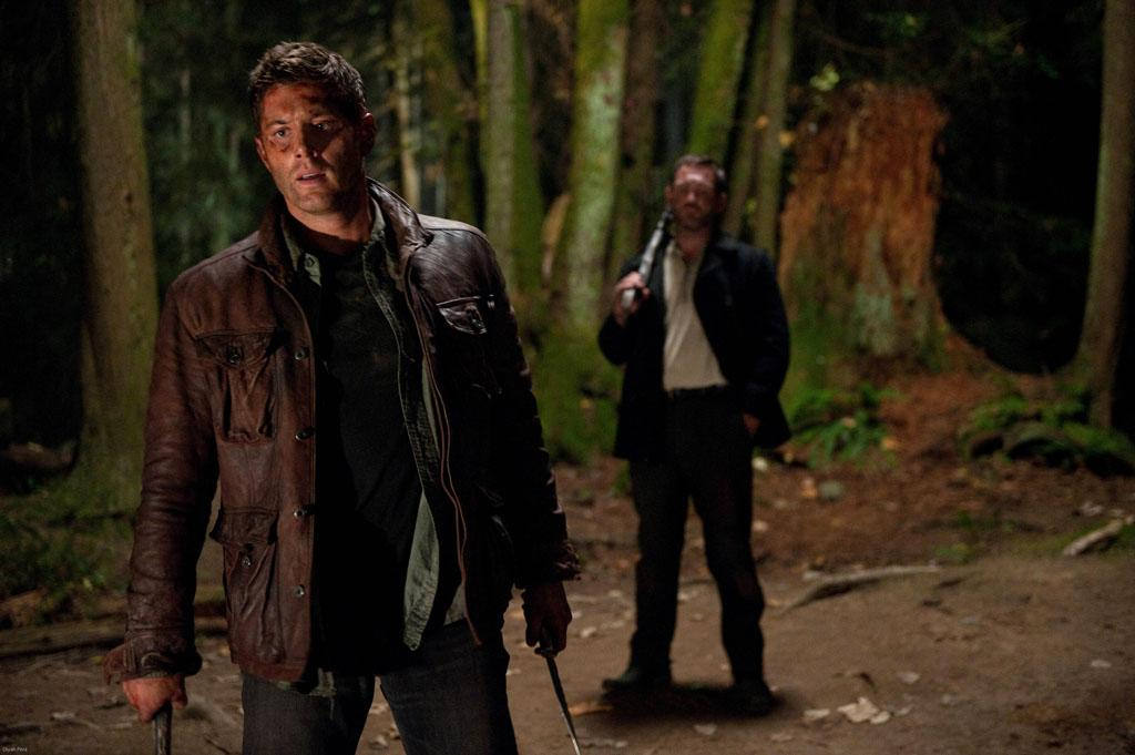 "Misha Collins as Castiel in the ""Supernatural"" episode, ""What's Up, Tiger Mommy?."""
