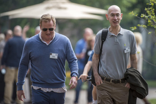 NFL leadership inquired about Adam Silver's interest in Roger Goodell's job. (Getty Images)