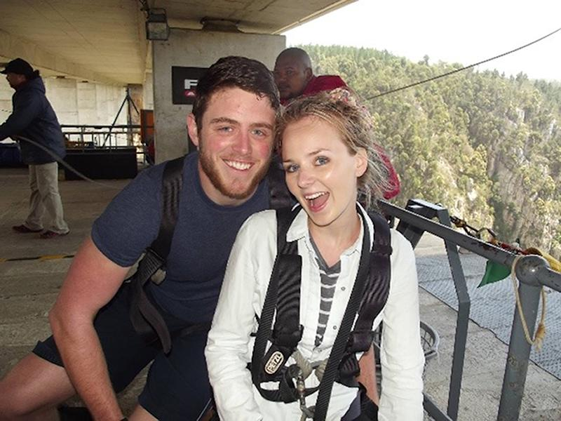 Pc Andrew Harper, 28, pictured with his wife Lissie, had been described as a 'gentle giant'. (PA)