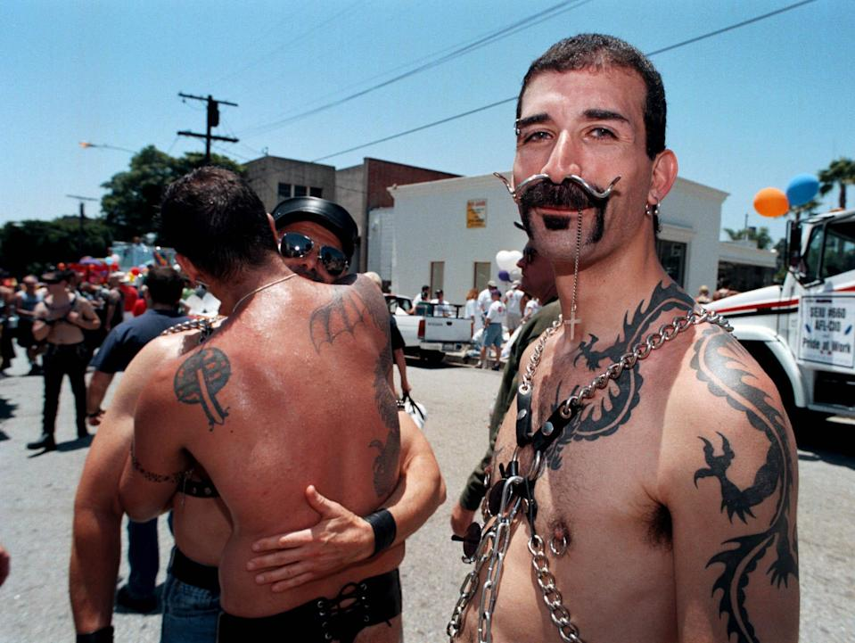 File Members of  Avatar, An S/M, Leather, And Fetish Club, at the 29Th Annual Gay and Lesbian Pride Celebration in 1999 In West Hollywood, California. (Getty Images)