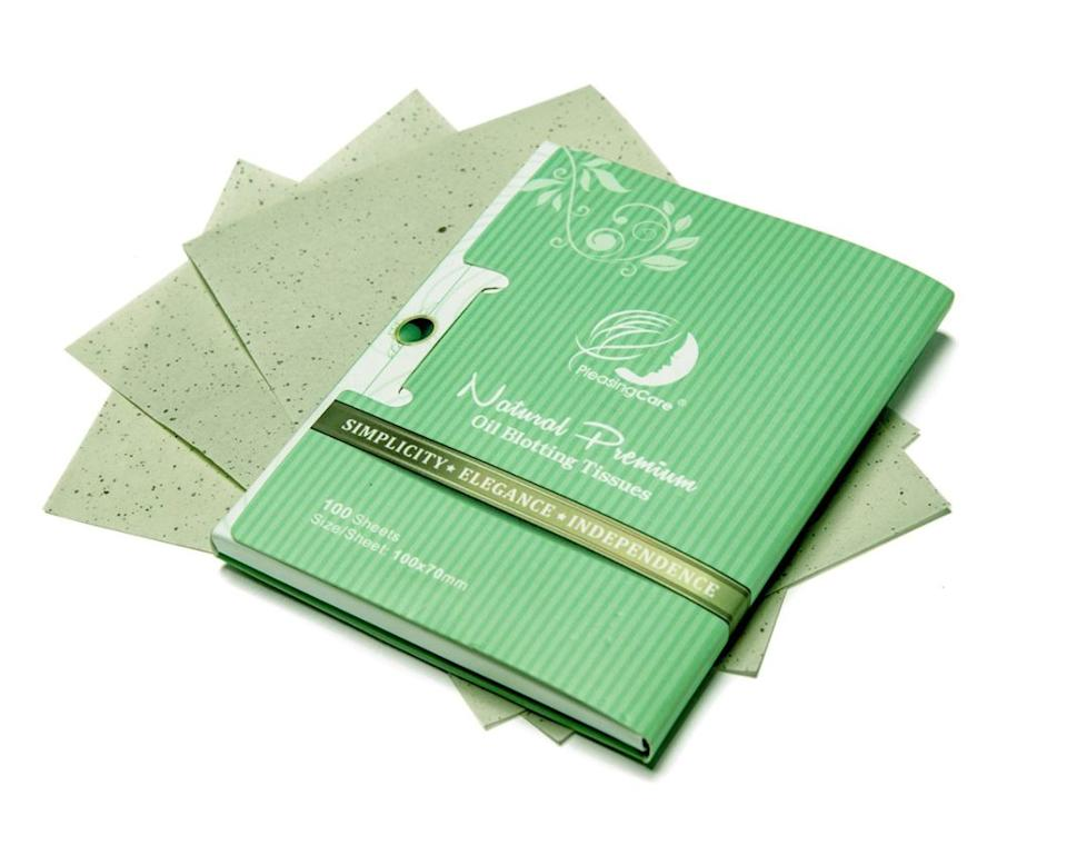 """These absorbing tissues will soak up pesky excess oil around your cheeks, nose and chin.<br /><br /><strong>Promising review</strong>: """"I've had oily skin my whole life and have used countless types of oil blotting sheets because they're life savers. THESE ARE AMAZING. They're a great deal, big sheets and they pull out one at a time so easily.<strong>I'll never go back to other brands.</strong>Give these a try — they're completely worth it. They work well and are easy to use. I have no negative things to say at all."""" —<a href=""""https://amzn.to/3fbilqj"""" target=""""_blank"""" rel=""""nofollow noopener noreferrer"""" data-skimlinks-tracking=""""5582326"""" data-vars-affiliate=""""Amazon"""" data-vars-href=""""https://www.amazon.com/gp/customer-reviews/R3MZ0SKCUX6K38?tag=bfjasmin-20&ascsubtag=5582326%2C21%2C25%2Cmobile_web%2C0%2C0%2C0"""" data-vars-keywords=""""cleaning"""" data-vars-link-id=""""0"""" data-vars-price="""""""" data-vars-retailers=""""Amazon"""">Kelsey<br /><br /></a><strong>Get a pack of 200 sheets from Amazon for<a href=""""https://amzn.to/3w0IajZ"""" target=""""_blank"""" rel=""""nofollow noopener noreferrer"""" data-skimlinks-tracking=""""5582326"""" data-vars-affiliate=""""Amazon"""" data-vars-asin=""""B017OY602Q"""" data-vars-href=""""https://www.amazon.com/dp/B017OY602Q?tag=bfjasmin-20&ascsubtag=5582326%2C21%2C25%2Cmobile_web%2C0%2C0%2C1148893"""" data-vars-keywords=""""cleaning"""" data-vars-link-id=""""1148893"""" data-vars-price="""""""" data-vars-product-id=""""17879150"""" data-vars-product-img=""""https://m.media-amazon.com/images/I/51jVWqbczJL._SL500_.jpg"""" data-vars-product-title=""""Natural Green Tea Oil Absorbing Tissues - 200 Counts in 2 Pack, Premium Face Oil Blotting Paper - Take 1 Piece Each Time Design - Large 10CM Oil Absorbing Sheets, No Waste and Easy to Carry in Pocket!"""" data-vars-retailers=""""Amazon"""">$11.95+</a>(available in two formulas).</strong>"""
