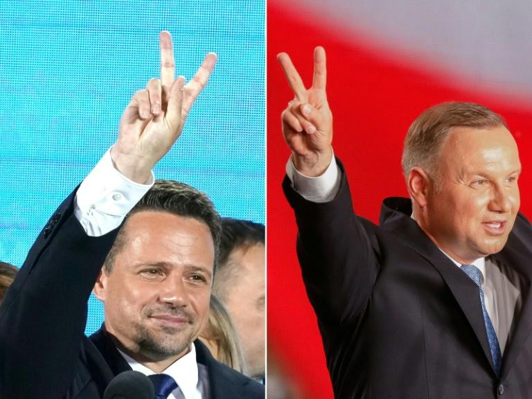 Andrzej Duda (R) Rafal Trzaskowski (L) will strive to attract those voters who backed the other nine candidates