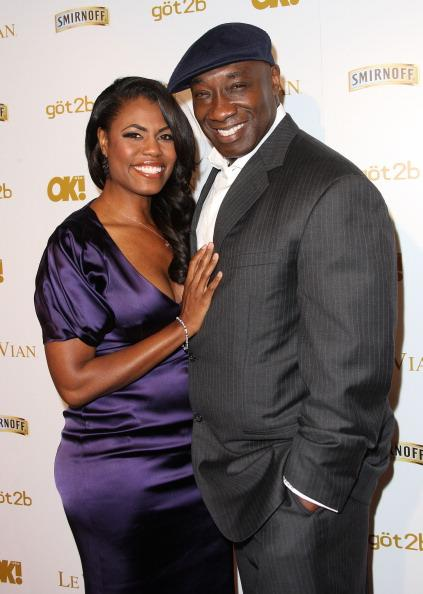 Actress Omarosa Manigault (L) and actor Michael Clarke Duncan attend Ok! Magazine's Pre-GRAMMY Event at Tru Hollywood on February 10, 2012 in Hollywood, California. (Photo by Frederick M. Brown/Getty Images)