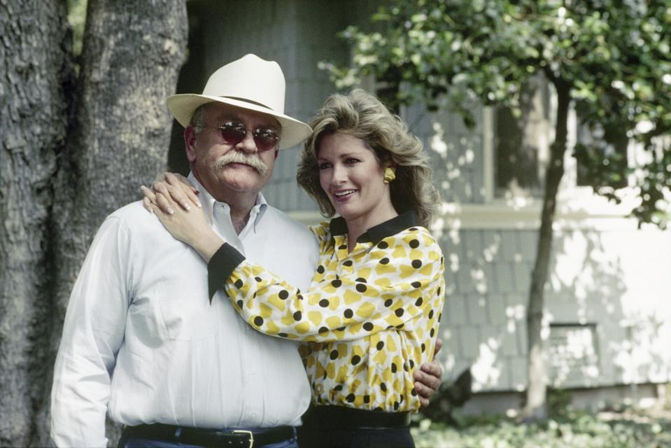 OUR HOUSE -- Season 1 -- Pictured: (l-r) Wilford Brimley as Gus Witherspoon, Deidre Hall as Jessica 'Jessie' Witherspoon -- Photo by: NBCU Photo Bank