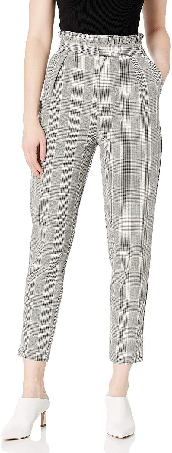 <p>We can't say no to a cute plaid pair with these <span>Cupcakes and Cashmere Lindley Paper Bag High Trousers</span> ($48).</p>