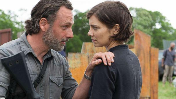 PHOTO: Andrew Lincoln as Rick Grimes and Lauren Cohan as Maggie Greene, in a scene from 'The Walking Dead,' on AMC. (Gene Page/AMC)