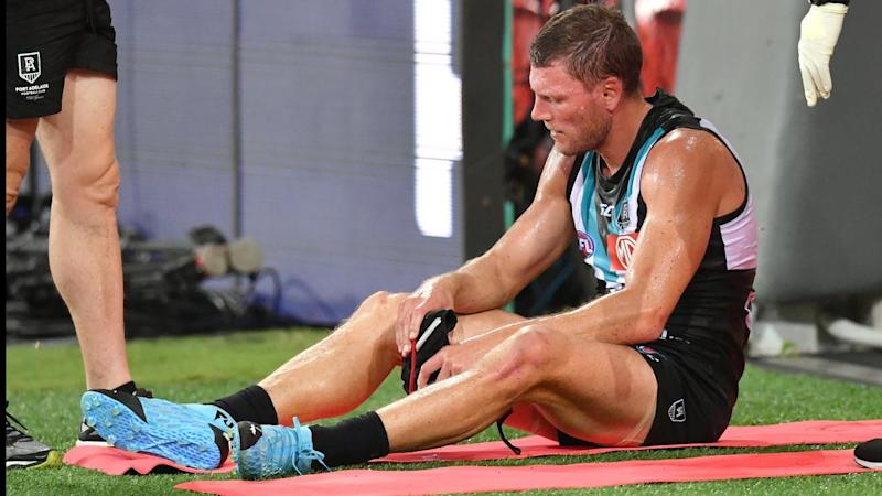 Port Adelaide have belted Gold Coast in their AFL opener but Brad Ebert is among injury concerns