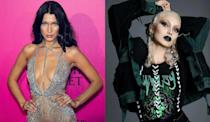 <p>Bella Hadid goes platinum blonde for the Winter 2016 'Outspoken' issue of PAPER magazine. <i> (Photos: Getty/Instagram/December 2016)</i> </p>