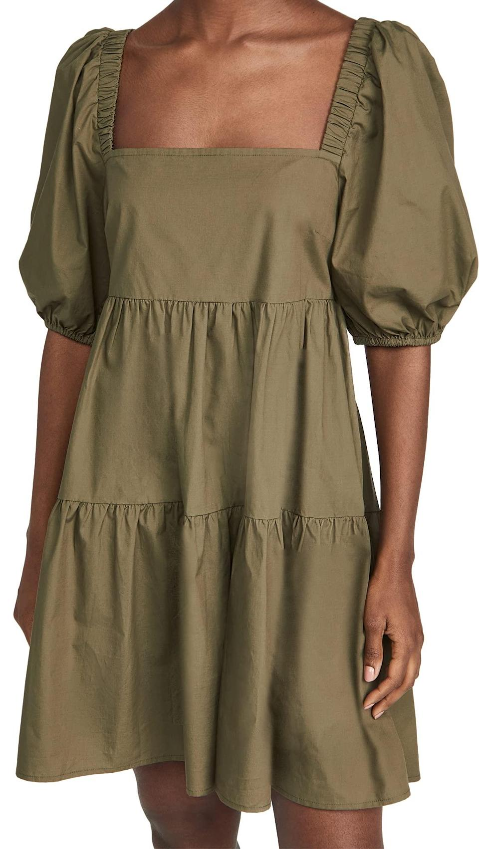 """<em>Shop Shopbop-curated dresses at <strong><a href=""""https://amzn.to/3gTBPAU"""" rel=""""nofollow noopener"""" target=""""_blank"""" data-ylk=""""slk:Amazon"""" class=""""link rapid-noclick-resp"""">Amazon</a></strong></em><br><br><strong>MINKPINK</strong> Issy Babydoll Smock Dress, $, available at <a href=""""https://amzn.to/3j0qHok"""" rel=""""nofollow noopener"""" target=""""_blank"""" data-ylk=""""slk:Amazon"""" class=""""link rapid-noclick-resp"""">Amazon</a>"""