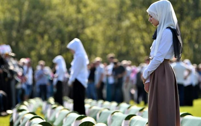 To date, 181 victim of the massacre at Koricanske Stijene have been found and identified, including 176 Bosnian Muslims and five Croats, according to Mujo Begic, an official from the Bosnian Institute for Missing Persons (AFP Photo/ELVIS BARUKCIC)