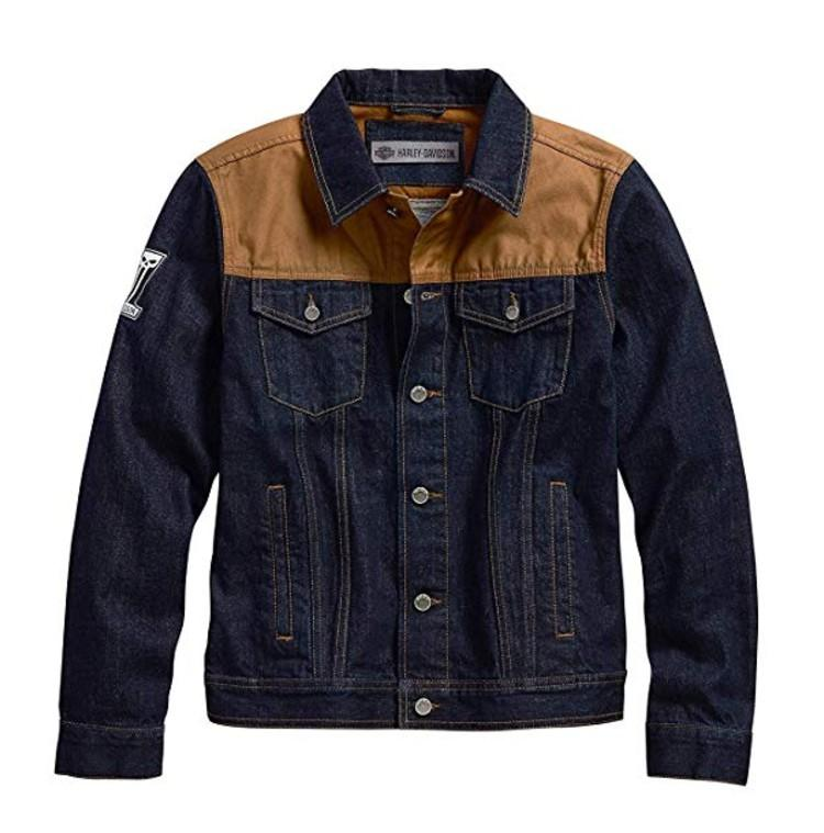 Harley-Davidson Official Men's Waxed Canvas Slim Fit Denim Jacket. (Photo: Amazon)