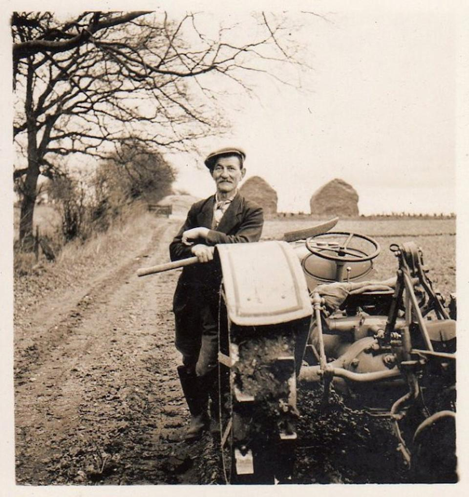 """<span class=""""caption"""">A photo of a farm worker from Henry Williamson's 1941 book 'Life on the Norfolk Farm'</span> <span class=""""attribution""""><span class=""""source"""">Henry Williamson Literary Society</span>, <a class=""""link rapid-noclick-resp"""" href=""""http://creativecommons.org/licenses/by/4.0/"""" rel=""""nofollow noopener"""" target=""""_blank"""" data-ylk=""""slk:CC BY"""">CC BY</a></span>"""