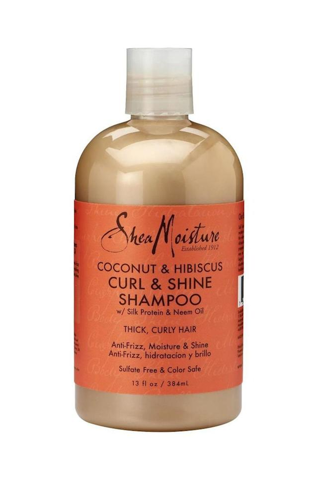 """<p><em>SheaMoisture Curl & Shine Shampoo, $10</em></p><p><a rel=""""nofollow"""" href=""""https://www.amazon.com/Moisture-Coconut-Hibiscus-Curling-Shampoo-13/dp/B0038TXGL0?th=1"""">SHOP IT</a></p><p>Repeat after us: Curls need moisture. Now go tattoo it on your forehead until it really sinks in, because if you're using anything but a hydrating, sulfate-free shampoo, like this silk protein– and neem oil–infused Shea Moisture formula, you're basically asking for breakage, tangles, and damage. </p>"""