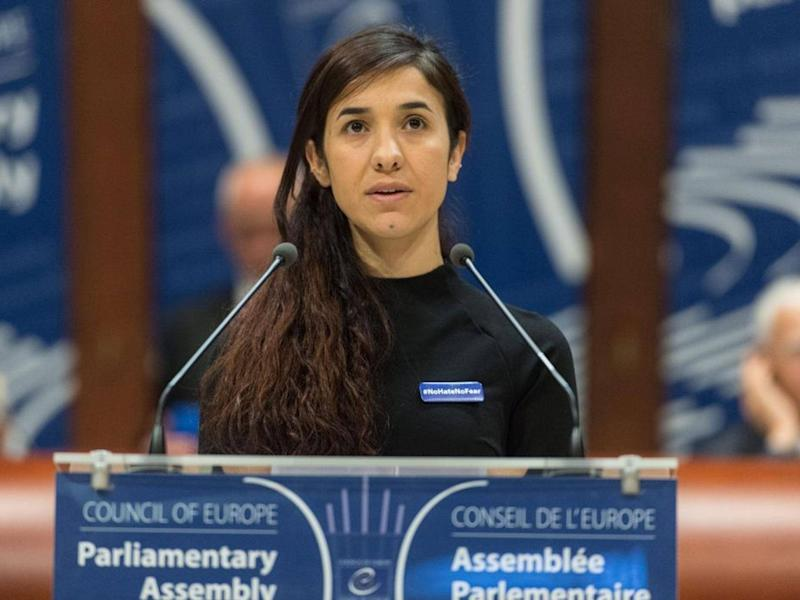 Nadia Murad has gone on to become an activist seeking being granted asylum in Germany: EPA