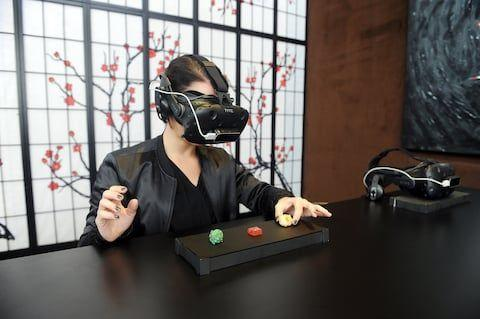 The food is said to taste better with a virtual reality headset - Credit: RCI