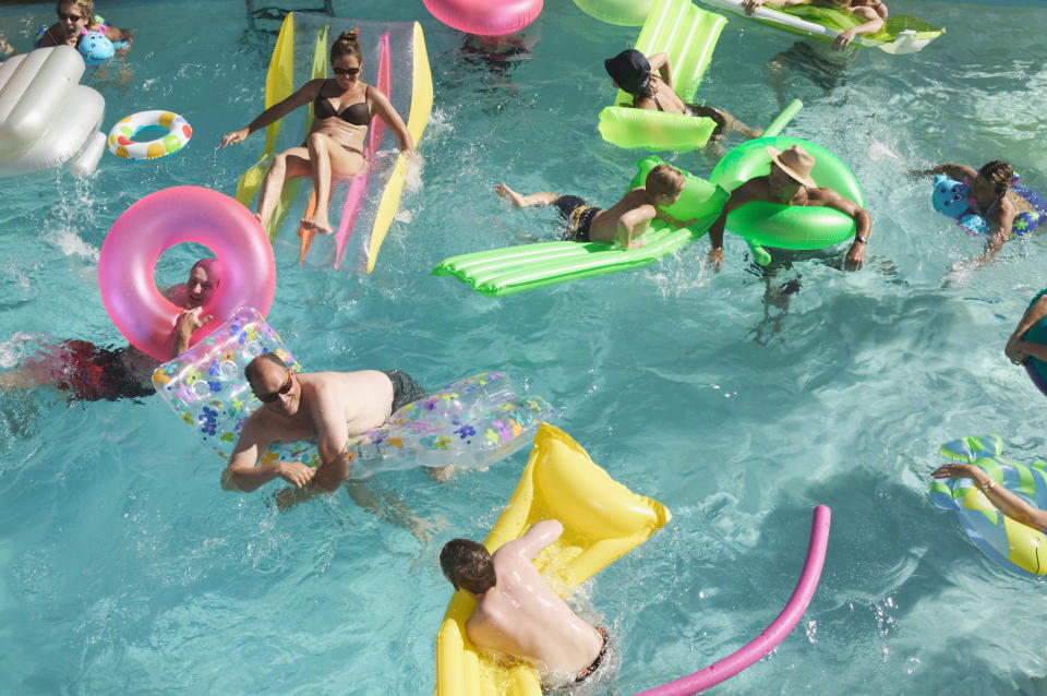 It's hard to see a child underwater with all this going on.... (Getty Images)