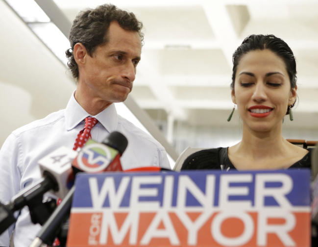 Comey Top Clinton Aide Huma Abedin forwarded classified information to Anthony Weiner