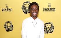 """<p>While Caleb may have gotten his first acting role in the Glimmerglass Opera House's production of <strong>Lost in the Stars</strong>, his first starring role was on Broadway. From 2012-2014, he played his dream role of Young Simba in <strong>The Lion King</strong>, becoming the longest-running actor to play the role. """"My <a href=""""https://neuneumedia.com/caleb-mclaughlin-stranger-things-interview/"""" class=""""link rapid-noclick-resp"""" rel=""""nofollow noopener"""" target=""""_blank"""" data-ylk=""""slk:parents took me to see The Lion King"""">parents took me to see <strong>The Lion King</strong></a> two years before I got the job,"""" Caleb previously told <strong>Neu Neu Media</strong>. """"I just knew that I wanted to be Simba. A few months later, I started community theater and then I was the right age to audition. There were like, five auditions before I got the part. I was young and I realized I was blessed to get it. So many kids auditioned more than once, some ten to eleven times.""""</p>"""