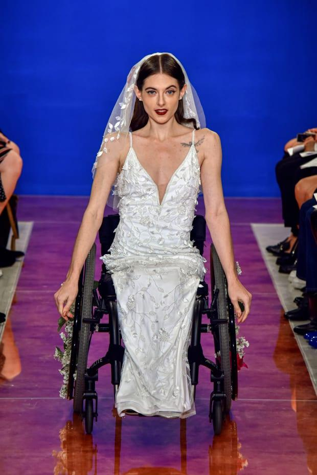 <p>A look from the Theia Fall 2020 bridal collection. Photo: Courtesy of Theia</p>
