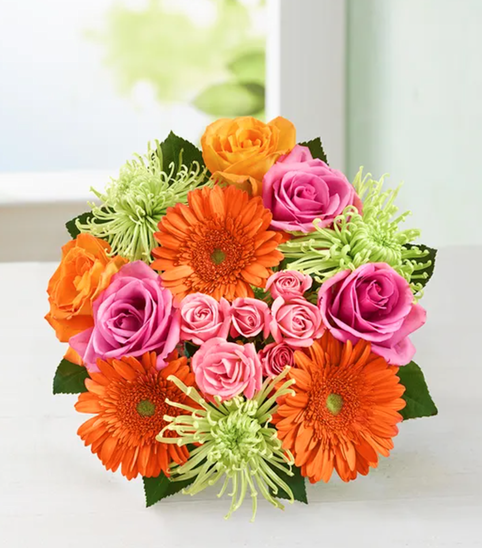 "<h2>Chrysanthemums<br></h2><br><strong>Best for: Sagittarius Moms</strong><br>""Your Sagittarius mom will be happy with any bouquet you pick out. Capture their fun and free nature with chrysanthemums that have various petal lengths and look like fireworks.""<br><br><em>Shop</em> <strong><em><a href=""http://1800flowers.com"" rel=""nofollow noopener"" target=""_blank"" data-ylk=""slk:1-800-Flowers"" class=""link rapid-noclick-resp"">1-800-Flowers</a></em></strong><br><br><strong>1-800-Flowers</strong> Vibrant Blooms Bouquet, $, available at <a href=""https://go.skimresources.com/?id=30283X879131&url=https%3A%2F%2Fwww.1800flowers.com%2Fvibrant-blooms-bouquet-107308"" rel=""nofollow noopener"" target=""_blank"" data-ylk=""slk:1-800-Flowers"" class=""link rapid-noclick-resp"">1-800-Flowers</a>"