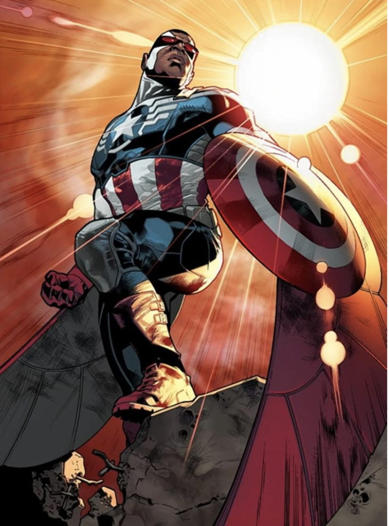 Sam Wilson as Captain America in the comics (Image: Marvel)