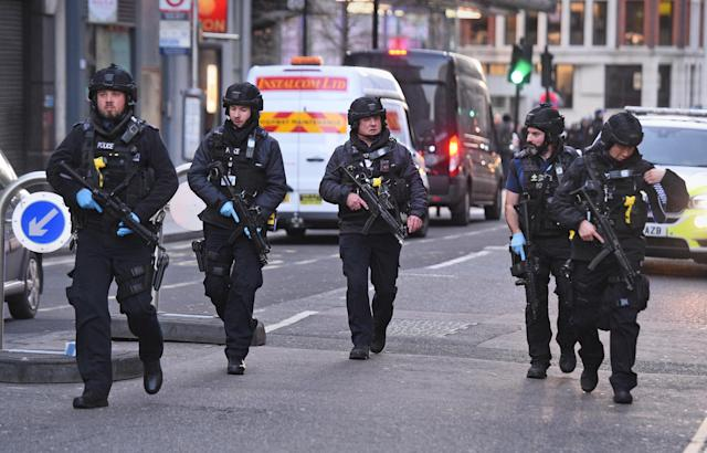 Police are treating the incident as terror related (AP)