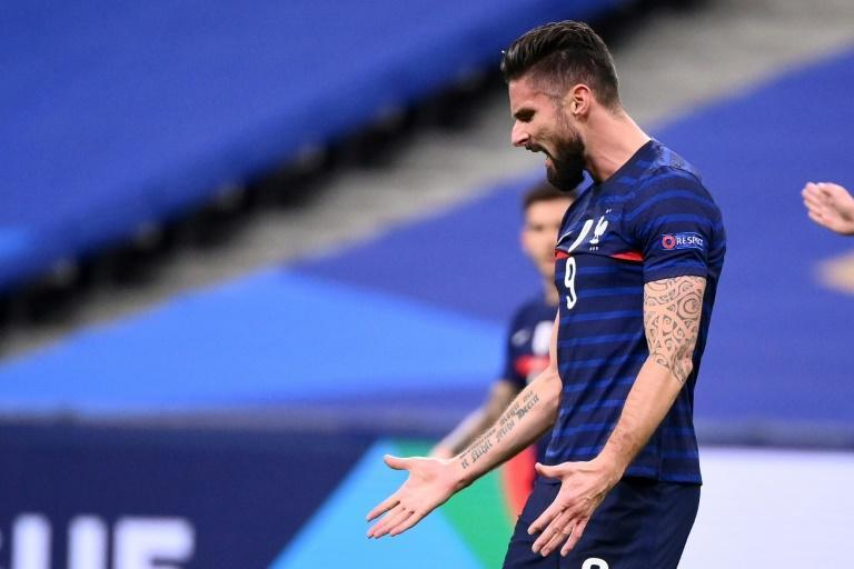 Olivier Giroud is closing in on Thierry Henry's record goal tally for France after scoring twice in the 4-2 win over Sweden