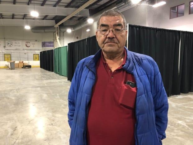 Neil Heron is one of the evacuees from Aklavik, N.W.T. He says he misses home, but that he's happy with the arrangements in Inuvik.
