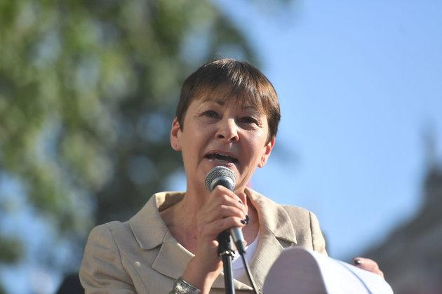 Green party co-leader Caroline Lucas