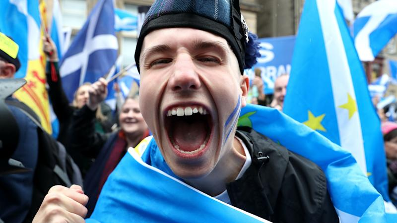 Scottish independence support reaches record high of 55% in new poll