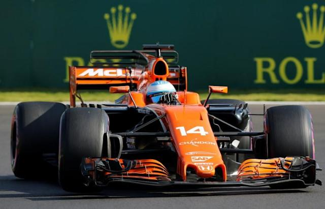 F1 - Formula 1 - Mexican Grand Prix 2017 - Mexico City, Mexico - October 28, 2017 McLaren's Fernando Alonso during third practice REUTERS/Henry Romero