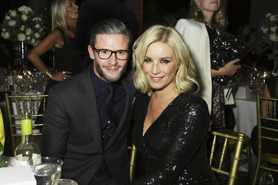 LONDON, ENGLAND - DECEMBER 02:  Eddie Boxshall (L) and Denise Van Outen attend the Cosmopolitan Ultimate Women Of The Year Awards at One Mayfair on December 2, 2015 in London, England.  (Photo by Dave J Hogan/Dave J Hogan/Getty Images)