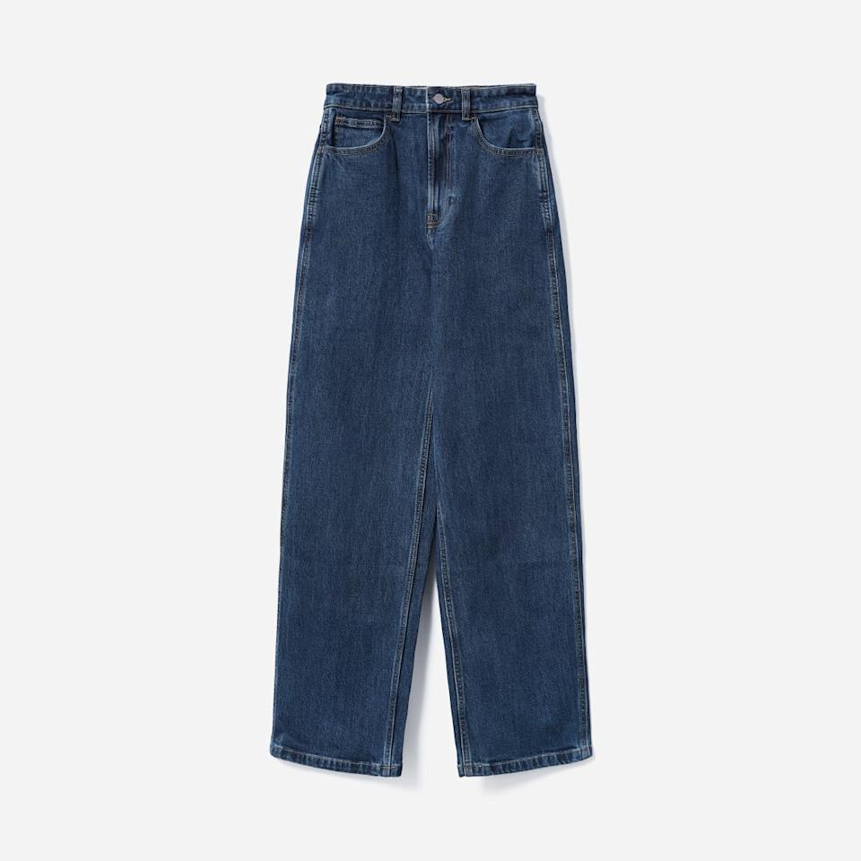 The Way-High Baggy Jean in Washed Midnight (Photo via Everlane)