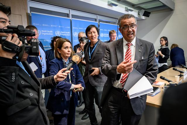 World Health Organization Director-General Tedros Adhanom Ghebreyesus. (Fabrice Coffrini/AFP via Getty Images)