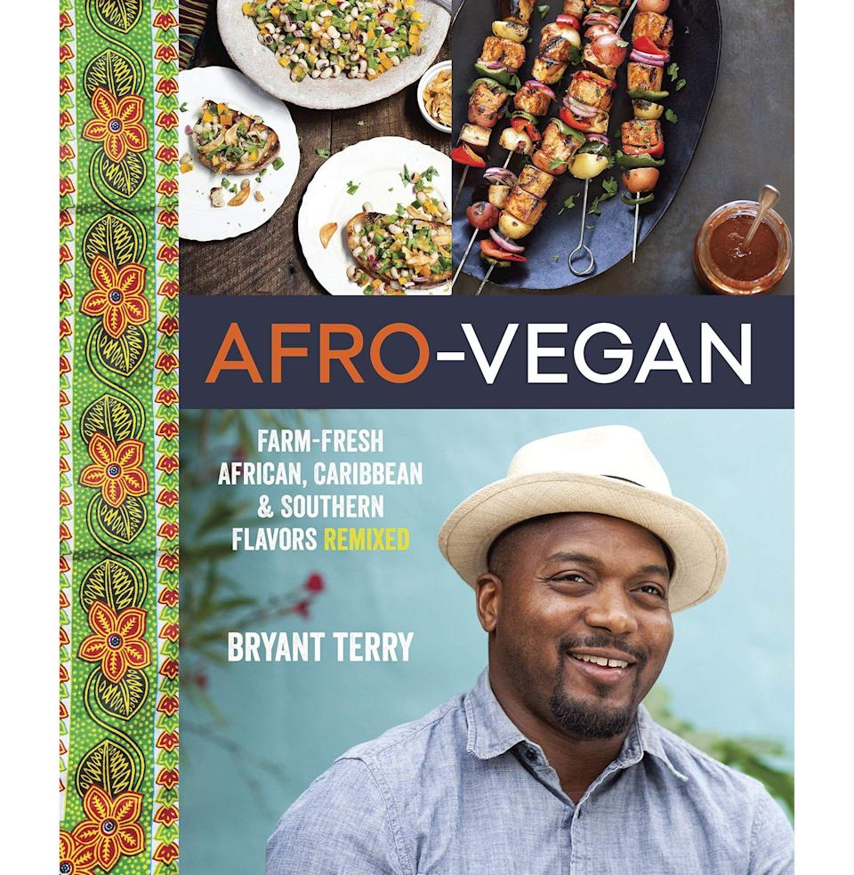 """<p><strong>By Bryant Terry</strong></p><p>bookshop.org</p><p><strong>$24.75</strong></p><p><a href=""""https://bookshop.org/books/afro-vegan-farm-fresh-african-caribbean-and-southern-flavors-remixed/9781607745310"""" rel=""""nofollow noopener"""" target=""""_blank"""" data-ylk=""""slk:Buy"""" class=""""link rapid-noclick-resp"""">Buy</a></p><p>The assumption that Black cooking is """"heavy"""" is a stubborn stereotype that should've gone away a long time ago. (Spend some time with Edna Lewis's classic recipes, as a corrective, and please look up <em>Dick Gregory's Natural Diet for Folks Who Eat: Cookin' with Mother Nature</em>. It came out in…1974.) Terry, <a href=""""https://www.esquire.com/food-drink/food/g31206127/best-cookbooks-2020/"""" rel=""""nofollow noopener"""" target=""""_blank"""" data-ylk=""""slk:who currently has a hit on his hands with Vegetable Kingdom"""" class=""""link rapid-noclick-resp"""">who currently has a hit on his hands with <em>Vegetable Kingdom</em></a>, is one of many Black chefs and authors around the country promoting the rewards and delights of plant-based cooking. His recipes are herbaceous, spicy, and abundant with delicious contrasts. If you assume that vegan cooking is flavorless, well, that's another stereotype that Terry is here to abolish <em>—J.G. </em></p>"""