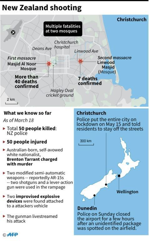 Updated graphic on the Christchurch shooting attack