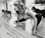 """<p>In addition to her burgeoning acting career, Fonda took over fitness in the 1980s once she released <a href=""""https://www.amazon.com/Jane-Fondas-Original-Workout-Galanty/dp/B08BK18S6W/ref=sr_1_1?dchild=1&keywords=jane+fonda+workout&qid=1613600916&s=instant-video&sr=1-1"""" rel=""""nofollow noopener"""" target=""""_blank"""" data-ylk=""""slk:Jane Fonda's Workout"""" class=""""link rapid-noclick-resp""""><em>Jane Fonda's Workout</em></a> on VHS. It went on to sell more than 17 million copies, one of the highest-selling tapes of all time.</p>"""