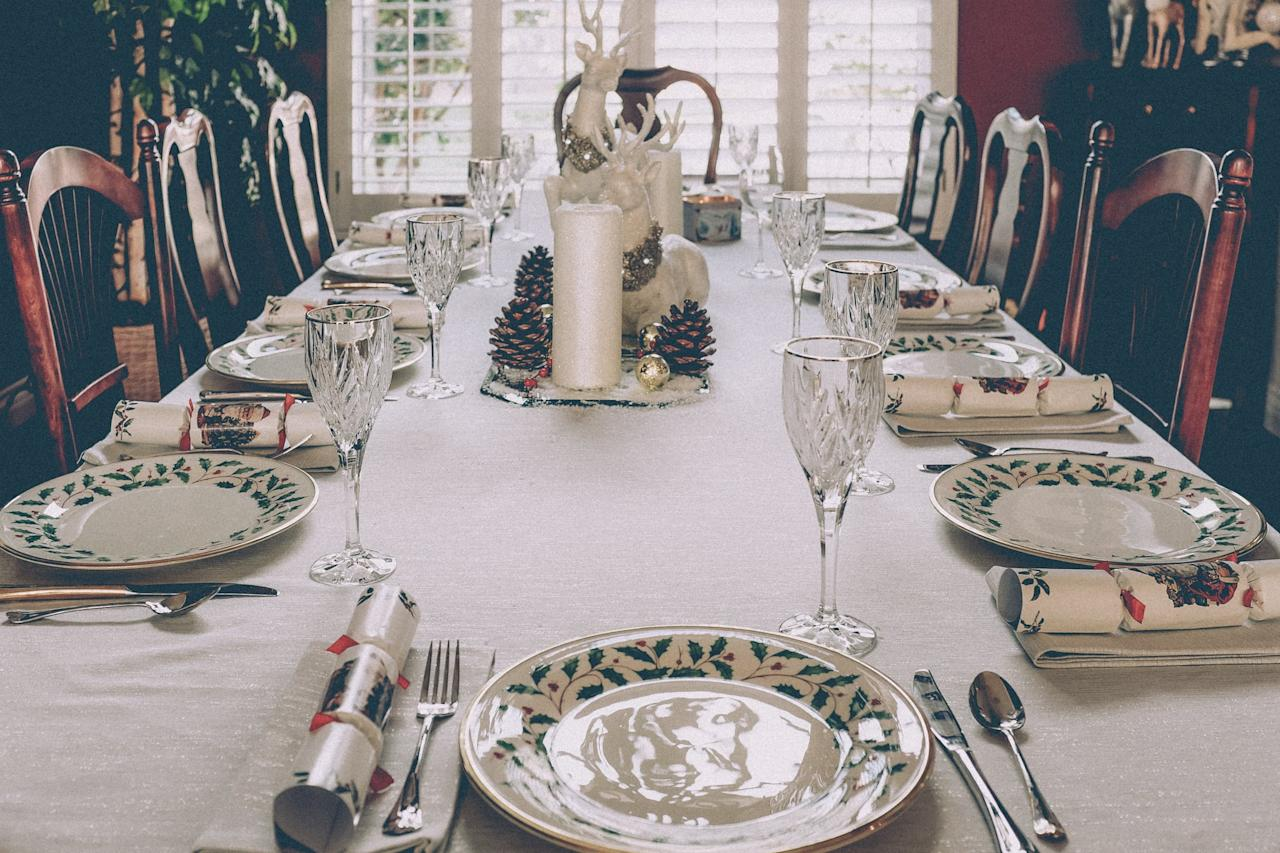 <p>The temptation to use plates and silverware that you don't have to wash after hosting a holiday party is a big one. Instead, commit to using real dishware and utensils. With so many helpful hands around, cleaning up will be a breeze and you'll avoid the giant, unnecessary waste that comes with single-use items.</p>