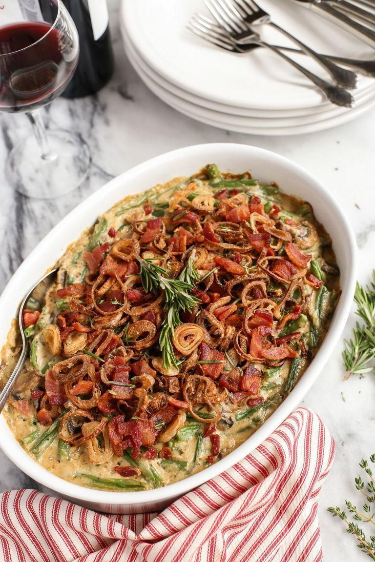"<p>Use thick pieces of bacon and fried shallots to dress up your classic green bean casserole.</p><p><strong><a href=""https://www.thepioneerwoman.com/food-cooking/recipes/a80624/thanksgiving-dinner-green-bean-casserole/"" rel=""nofollow noopener"" target=""_blank"" data-ylk=""slk:Get the recipe."" class=""link rapid-noclick-resp"">Get the recipe.</a></strong></p><p><strong><a class=""link rapid-noclick-resp"" href=""https://go.redirectingat.com?id=74968X1596630&url=https%3A%2F%2Fwww.walmart.com%2Fbrowse%2Fhome%2Ftools-gadgets%2Fthe-pioneer-woman%2F4044_623679_133020%2FYnJhbmQ6VGhlIFBpb25lZXIgV29tYW4ie&sref=https%3A%2F%2Fwww.thepioneerwoman.com%2Ffood-cooking%2Fmeals-menus%2Fg33251890%2Fbest-thanksgiving-sides%2F"" rel=""nofollow noopener"" target=""_blank"" data-ylk=""slk:SHOP KITCHEN TOOLS"">SHOP KITCHEN TOOLS</a><br></strong></p>"