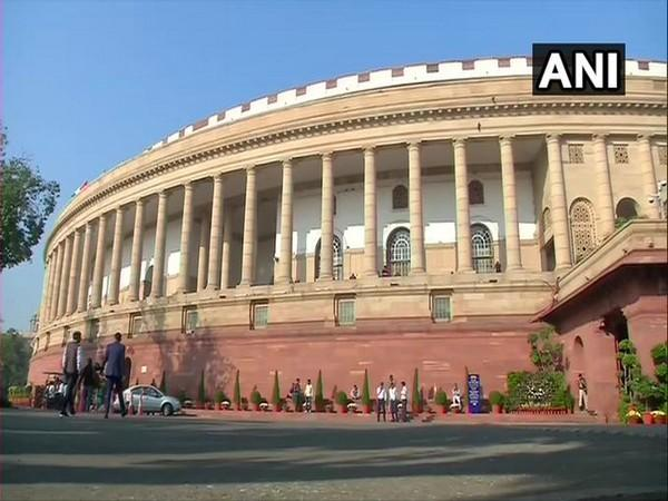 A view of the Indian Parliament.