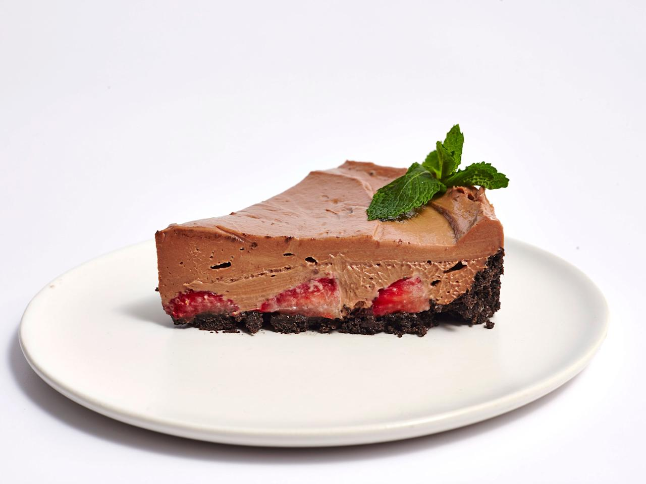 """<p>Strawberry season is an indicator of two things; it means the sun is out and the oven is off. Take a break from a hot kitchen to make this easy, fresh and stress-free no-bake Nutella flavored cheesecake. The hazelnut spread not only gives the cheesecake a velvety texture and chocolatey taste, but it also helps stabilize the pie to set up a creamy yet firm consistency when chilled. The addition of condensed milk adds a touch of milky sweetness and the lemon juice creates a mellow, zesty flavor that balances the cheesecake's sweetness. You can prepare the crust a day ahead and also chill cheesecake overnight. This cheesecake will be a hit at any summer event, and it's a great way to use up the season's favorite berry. </p> <p><a href=""""https://www.myrecipes.com/recipe/no-bake-strawberry-nutella-cheesecake"""">No-Bake Strawberry Nutella Cheesecake Recipe</a></p>"""