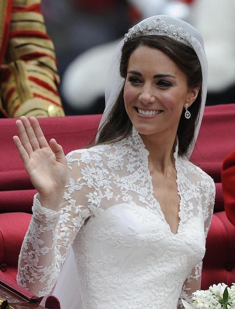 Kate Middleton wedding jewellery - Credit: Paul Hackett/PA Wire