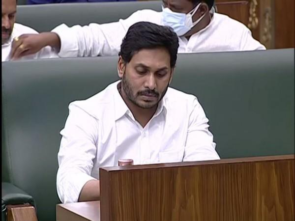 Andhra Pradesh Chief Minister Jagan Mohan Reddy during the Budget Session (Photo/ANI).