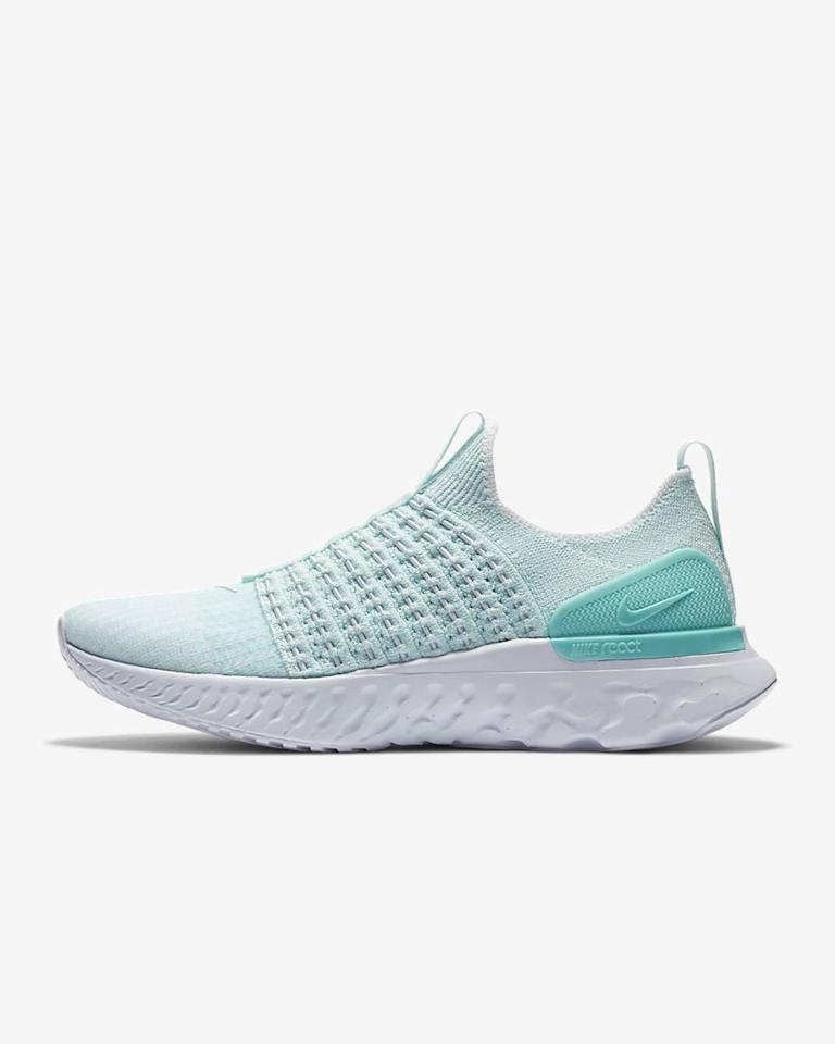 """<p>If you can't be bothered with laces, these <product href=""""https://www.nike.com/t/react-phantom-run-flyknit-2-womens-running-shoe-65fS2h/CJ0280-300"""" target=""""_blank"""" class=""""ga-track"""" data-ga-category=""""internal click"""" data-ga-label=""""https://www.nike.com/t/react-phantom-run-flyknit-2-womens-running-shoe-65fS2h/CJ0280-300"""" data-ga-action=""""body text link"""">Nike React Phantom Run Flyknit 2</product> ($115, originally $140) shoes are for you.</p>"""
