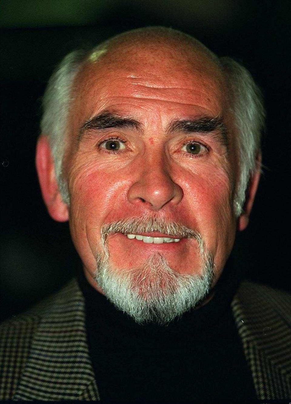 Neil Connery brother of actor Sean Connery with beard April 1997 (Photo by mirrorpix/Mirrorpix/Mirrorpix via Getty Images)