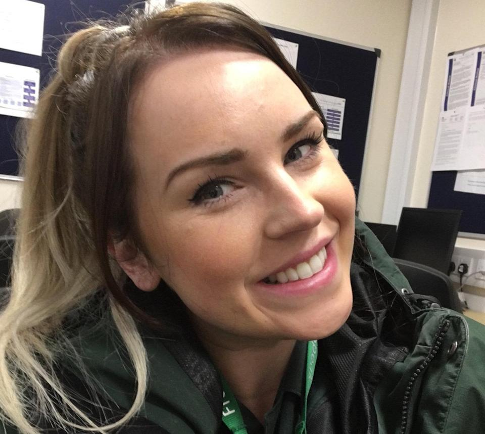 Katie Tudor a Paramedic Mentor in Stoke-on-Trent who highlighted the extraordinary note on social media. (SWNS)