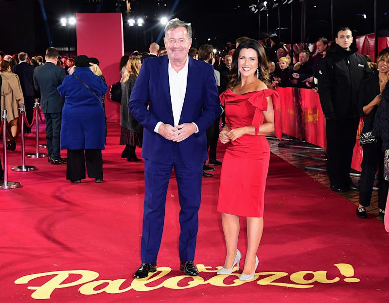 Piers Morgan and Susanna Reid arriving for the ITV Palooza held at the Royal Festival Hall, Southbank Centre, London. (Photo by Ian West/PA Images via Getty Images)