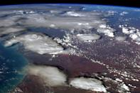 """Tonight's finale: The pall of smoke clouds over Australia, as seen from orbit. A rare view of the bushfires' effect. <a href=""""https://twitter.com/Cmdr_Hadfield/status/290603367762378753/photo/1"""" rel=""""nofollow noopener"""" target=""""_blank"""" data-ylk=""""slk:(Photo by Chris Hadfield/Twitter)"""" class=""""link rapid-noclick-resp"""">(Photo by Chris Hadfield/Twitter)</a>"""