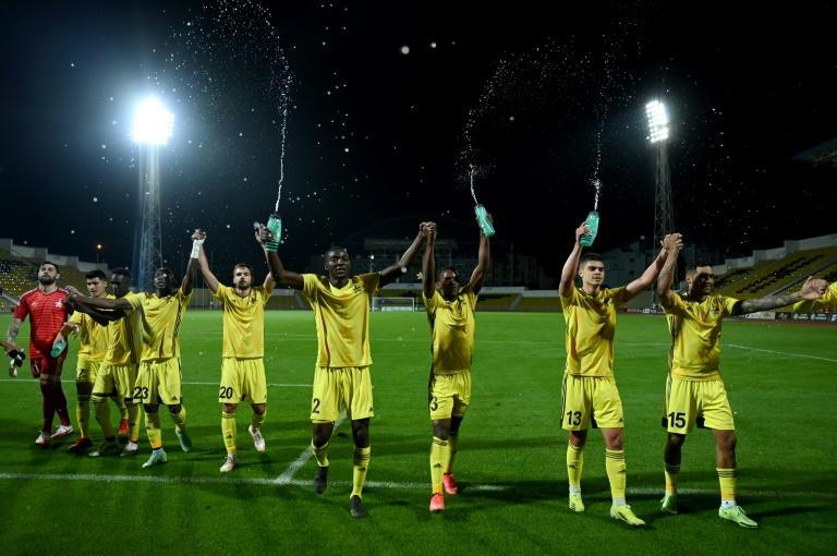 Global reach: Sheriff FC's players hail from across the globe, including Brazil, Greece Luxembourg and Ghana (AFP/Sergei GAPON)